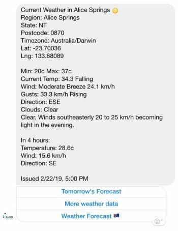 Weather in Alice Springs, Australia